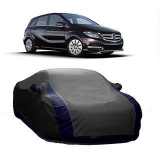 RideZ UV Resistant Car Cover For Chevrolet Aveo (Designer Grey  Blue )