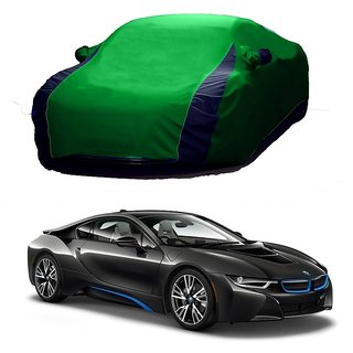 RideZ UV Resistant Car Cover For Tata Indica (Designer Green  Blue )
