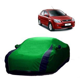 RideZ UV Resistant Car Cover For Tata Indica Vista (Designer Green  Blue )