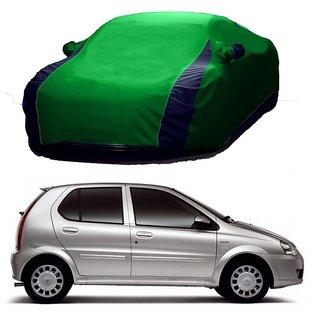 RideZ UV Resistant Car Cover For Tata Indigo (Designer Green  Blue )