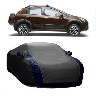RideZ UV Resistant Car Cover For Toyota Avalon (Designer Grey  Blue )