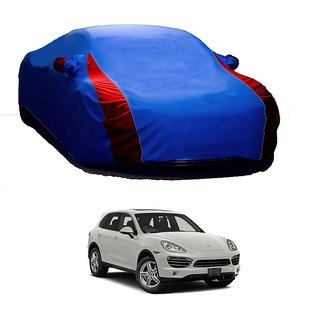 RideZ UV Resistant Car Cover For Fiat Bravo (Designer Blue  Red )