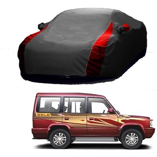 Bull Rider Car Cover For Maruti Suzuki WagonR Stingray (Designer Grey  Red )
