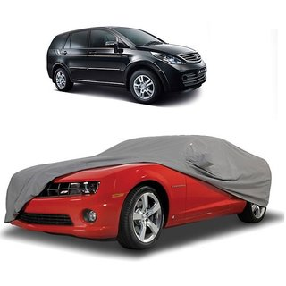 RoadPluS UV Resistant Car Cover For Honda Amaze (Grey With Mirror )