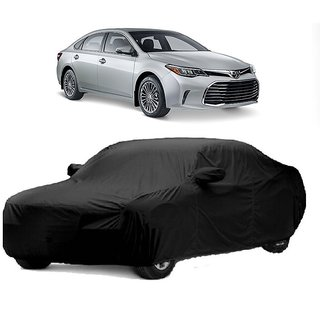 DrivingAID Car Cover For Toyota Avalon (Black With Mirror )
