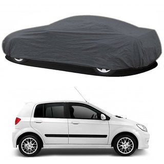 RoadPluS UV Resistant Car Cover For Nissan Go (Grey Without Mirror )