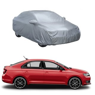 InTrend Water Resistant  Car Cover For Chevrolet Sail UVA (Silver With Mirror )