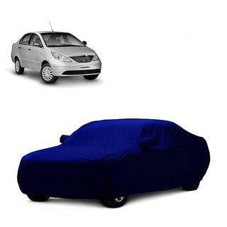 DrivingAID Car Cover For Chevrolet Optra (Blue With Mirror )