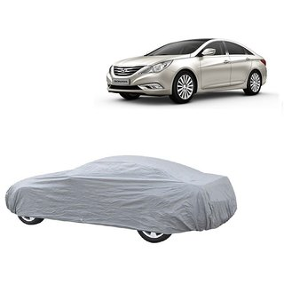 Bull Rider UV Resistant Car Cover For Hyundai Verna Fluidic 4S (Silver Without Mirror )