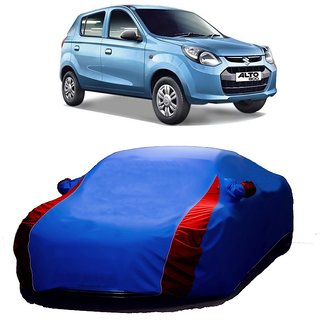MotRoX Water Resistant  Car Cover For Maruti Suzuki Alto-800 (Designer Blue  Red )