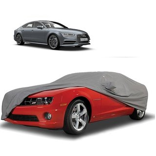 AutoBurn Car Cover For Hyundai Accent (Grey With Mirror )