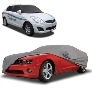 InTrend Water Resistant  Car Cover For Maruti Suzuki WagonR (Grey With Mirror )