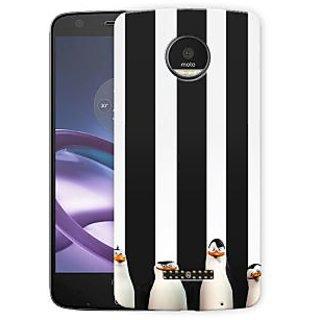 Cute Black White Penguins Printed Designer Mobile Back Cover For
