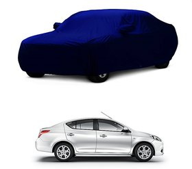 RideZ Car Cover For Toyota Etios Cross (Blue With Mirro