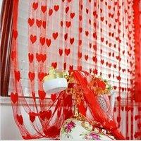 K Decor Red Heart Curtain-1 Piece