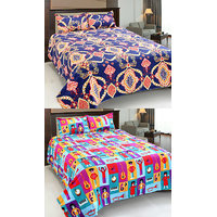 Home Castle 3D Printed Double Bedsheet With 2 Pillow Covers (BUY 1 GET 1 FREE)