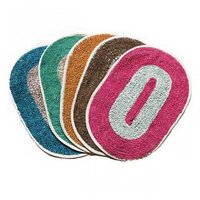 FAMOUS Set of 4  Door Mats ( COMBO PACK) Multicolour (12inch x 18inch)