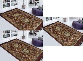Set of 3 K Decor Brown Carpet (pk005)