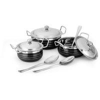 Classic Essentials Enamel Cookware Set Cook n Serve Casseroles