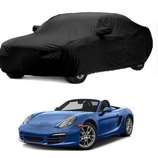 DrivingAID UV Resistant Car Cover For Volkswagen Beetle (Black With Mirror )