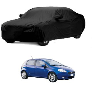 DrivingAID UV Resistant Car Cover For Maruti Suzuki Gypsy MG-410 (Black With Mirror )