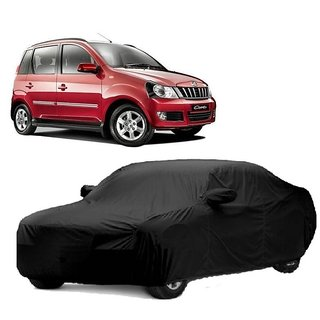 DrivingAID UV Resistant Car Cover For Chevrolet Sail UVA (Black With Mirror )