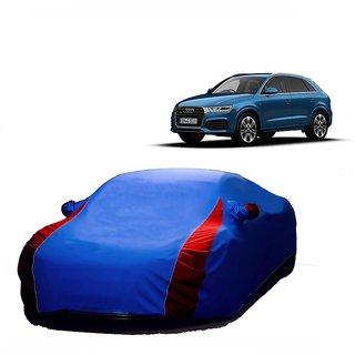 DrivingAID UV Resistant Car Cover For Tata Safari (Designer Blue  Red )