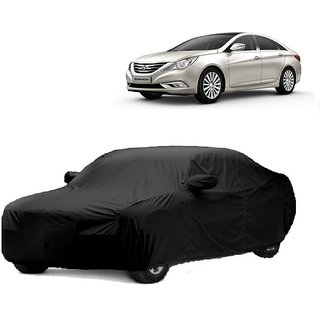 MotRoX UV Resistant Car Cover For Maruti Suzuki Wagon R (Black With Mirror )