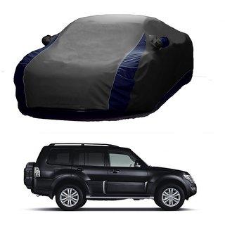 DrivingAID UV Resistant Car Cover For Mahindra Reva (Designer Grey  Blue )