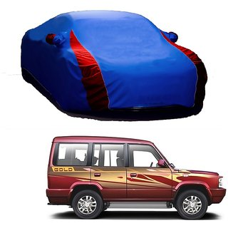 DrivingAID UV Resistant Car Cover For Maruti Suzuki WagonR (Designer Blue  Red )