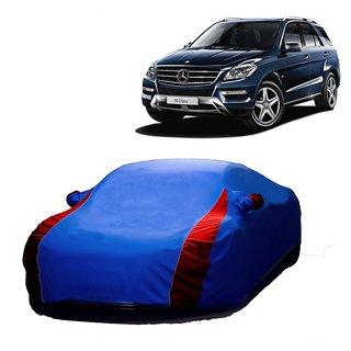 DrivingAID UV Resistant Car Cover For Mitsubishi Pajero Sport (Designer Blue  Red )