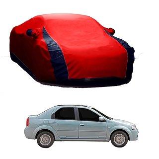 RideZ Car Cover For Honda Jazz (Designer Red  Blue )