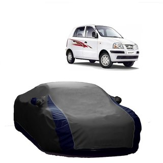 DrivingAID UV Resistant Car Cover For Nissan Terracan (Designer Grey  Blue )