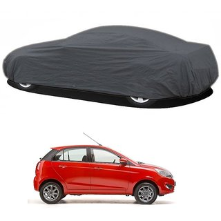 RideZ UV Resistant Car Cover For Chevrolet Beat 2015 (New Model) (Grey Without Mirror )
