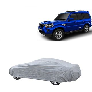RideZ UV Resistant Car Cover For Tata Tiago (Silver Without Mirror )