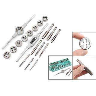 20 Pcs Tap Die Set Steel Assorted Set Screw Extractor Tap Die Adjustable Tap W