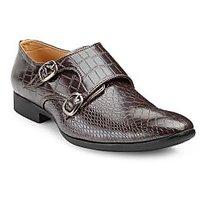 Juan David Mens Brown Slip On Formal Shoes