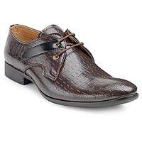 Juan David Mens Brown Lace Up Formal Shoes