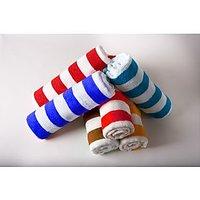 Combo Pack Of 4 Stripe Design Cotton Face Towel