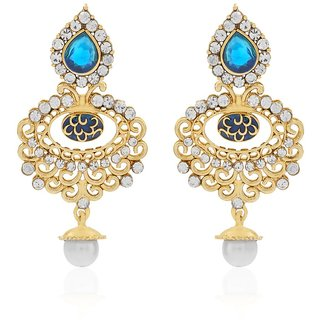 Jewels Capital Exclusive Blue White Earrings Set /S 1456