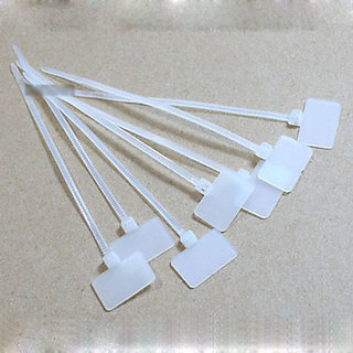 1 PACK 100PC 4 INCH IN WHITE NYLON MARKER CABLE ZIP LOCKING WIRE TIE STRAPS