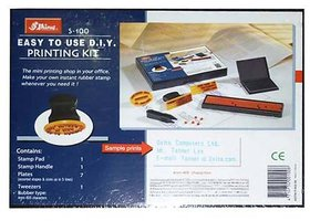 Perfect Shiny S-100 Rubber Stamp Easy To Use DIY Printing Kit