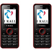 Set Of 2 IKall K24 Multimedia Mobile Alongwith 1 Year (