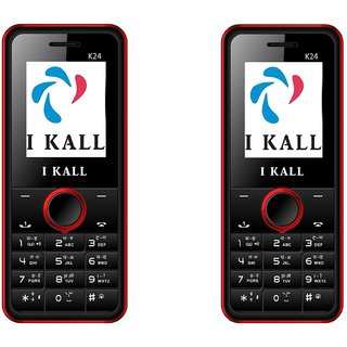 Set of 2 IKall K24 Multimedia Mobile alongwith 1 Year