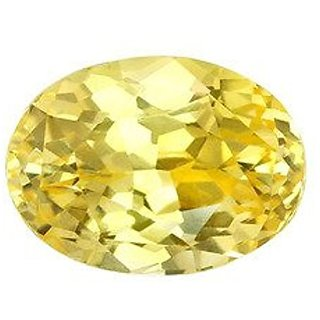 Jaipur Gemstone 12.25 ratti yellow sapphire(pukhraj)