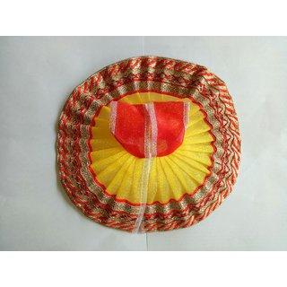 Laddu Gopal Poshak Dual Color With Lace Border ( 4 No.)