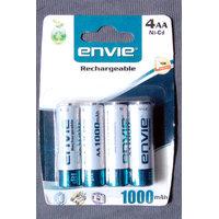 ENVIE PACK OF 4 RECHARGEABLE BATTERIES 1000 MAH - 4112716