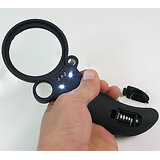 MAGNIFYING GLASS WITH LED 5 LED 2.5X 25X 55X LED MAGNIFIER MAGNIFYING GLASS WITH