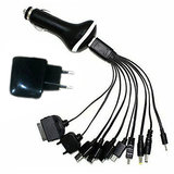 Universal 10-in-1 USB Cable With Wall & Car Charger