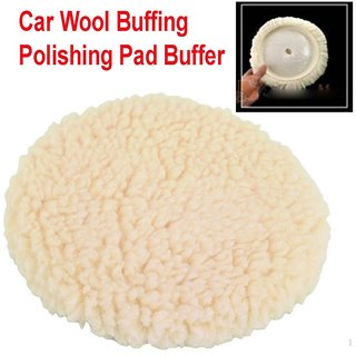 1X Car Wool Buffing Polishing Pad Buffer Polishing with your Compounds, Polishes